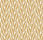 Decorative Golden Leaves Seamless Pattern. Continuous leaf background. Floral Texture. Geometric leaves vector seamless pattern. Abstract vector texture. Leaf vector illustration