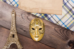 Decorative golden mask Royalty Free Stock Images