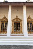 Decoration of thai temple windows Stock Images
