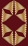 Decorative golden rhombus frame text layout Royalty Free Stock Photos
