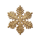 Decorative golden snowflake. Royalty Free Stock Images
