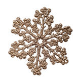 Decorative golden snowflake. Royalty Free Stock Image