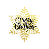 Decorative golden sparkling background gold ornaments Merry Christmas Royalty Free Stock Image