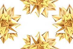Decorative golden stars Royalty Free Stock Image