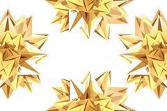 Decorative golden stars royalty free stock image