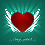 Decorative Gothic Heart Design. Vector Elements. Isolated Ornament Heart Illustration. EPS10 Royalty Free Stock Photography