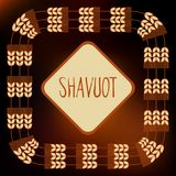 Decorative grain ears to create design compositions. The Jewish holiday of Shavuot. Symbols of the harvest and. Template in a minimalist style to create labels Royalty Free Stock Image