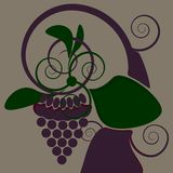 Decorative grape Stock Photography