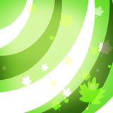 Decorative graphic background with green leaves Royalty Free Stock Photos
