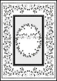 Decorative graphic frame rug Stock Image