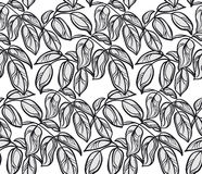 Decorative Graphic pattern with leaves. Royalty Free Stock Photo