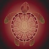 Decorative graphic turtle,  tribal totem animal,  illustra Stock Image