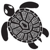 Decorative graphic turtle,  tribal totem animal,  illustra Royalty Free Stock Photo