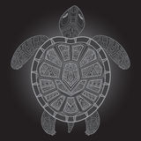 Decorative graphic turtle,  tribal totem animal,  illustra Royalty Free Stock Photography