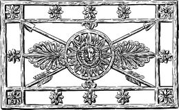 Decorative grate. Vector drawing of decorative forged grate on the fence of a city park Stock Photography