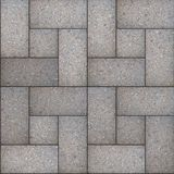 Decorative Gray Rectangular Paving Slabs. Stock Image