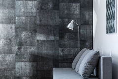 Decorative gray wall Royalty Free Stock Photo