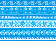 Decorative greek borders Royalty Free Stock Photo