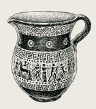 Decorative greek jug Royalty Free Stock Images
