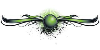 Decorative green banner Royalty Free Stock Photos