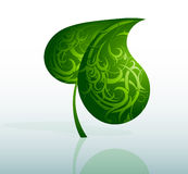 Decorative green leaf Royalty Free Stock Photos