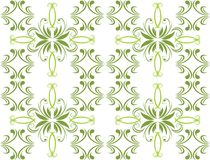 Decorative green ornament for background Royalty Free Stock Photography