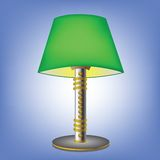 Decorative green table lamp Royalty Free Stock Photo