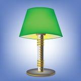 Decorative green table lamp Royalty Free Stock Photo