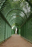 Decorative green tunnel in the Summer Gardens park Royalty Free Stock Photos