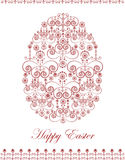 Decorative greeting card with easter egg. Vector illustration Stock Photo