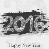 Decorative greeting card. Happy New Year 2016.  Hand drawn inscription. Vector illustration. Decorative greeting card. Happy New Year 2016.  Hand drawn Stock Image