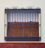 Decorative grill. Protection against theft while preserving aesthetics Royalty Free Stock Photography