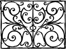 Decorative grille. Vector image of an ancient window lattice Royalty Free Stock Image