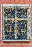 Decorative grille on window-Krakow (Cracow)- Poland-Jagiellonian University Royalty Free Stock Photos