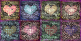 Decorative grunge hearts background Royalty Free Stock Photos
