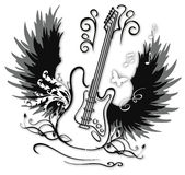 Decorative guitar. A illustration of decorative guitar design Stock Images