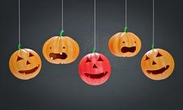 Decorative Halloween pumpkins 3d rendering stock photo