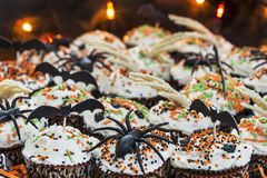 Decorative Halloween themed cupcakes Royalty Free Stock Photography