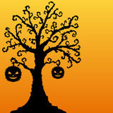 Decorative halloween tree Royalty Free Stock Photo