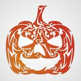 Decorative haloween pumpkin - vector Royalty Free Stock Photo
