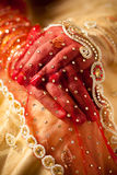 Decorative hand of bride Stock Images