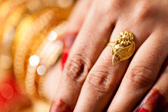 Decorative hand of bride Royalty Free Stock Photo