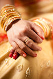 Decorative hand of bride Stock Photography