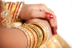 Decorative hand of bride Royalty Free Stock Photo