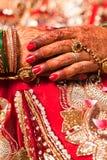 Decorative hand of bride Royalty Free Stock Photos