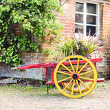 Decorative Hand Cart For Plant Display Stock Image