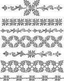 Decorative hand drawn borders Royalty Free Stock Photos