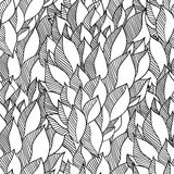 Decorative hand drawn doodle  curl vector sketchy seamless pattern. Can be used for wallpaper, pattern fills, web page background, surface textures. coloring Royalty Free Stock Photography