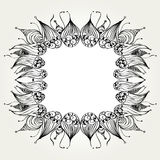 Decorative hand drawn frame Royalty Free Stock Photography
