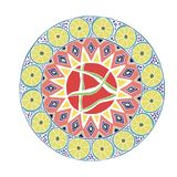 Decorative hand drawn mandala with different geometrical element royalty free stock photos